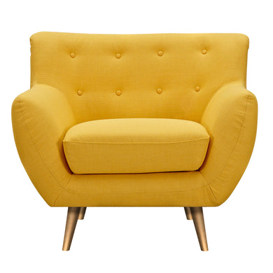 Papaya Yellow Anke Armchair- Brass