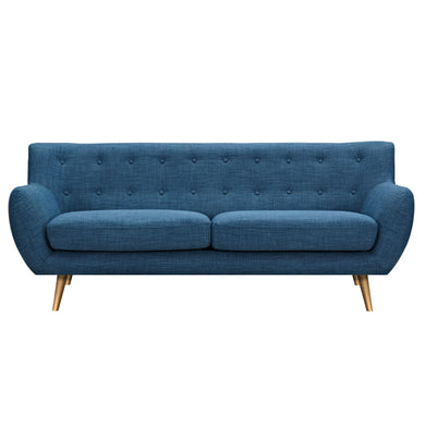 Stone Blue Anke Sofa - Brass