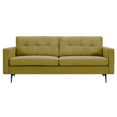 Avocado Green Greta Sofa- Black