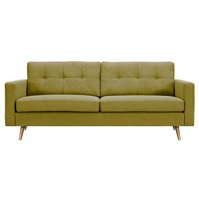 Avocado Green Elke Sofa- Brass