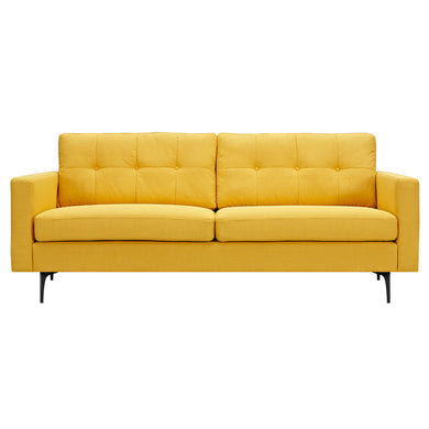Papaya Yellow Greta Sofa- Black