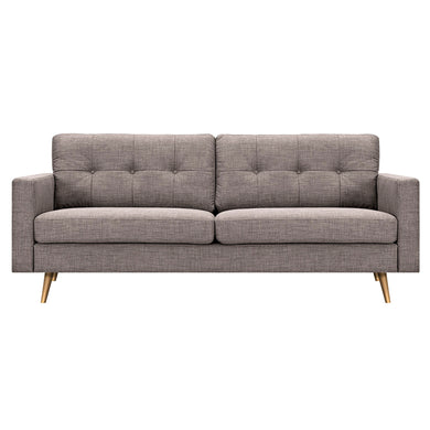 Aluminium Gray Elke Sofa- Brass