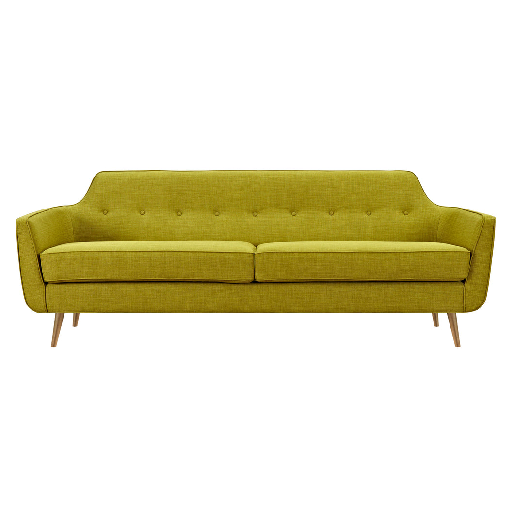 Avocado Green Helle Sofa- Brass