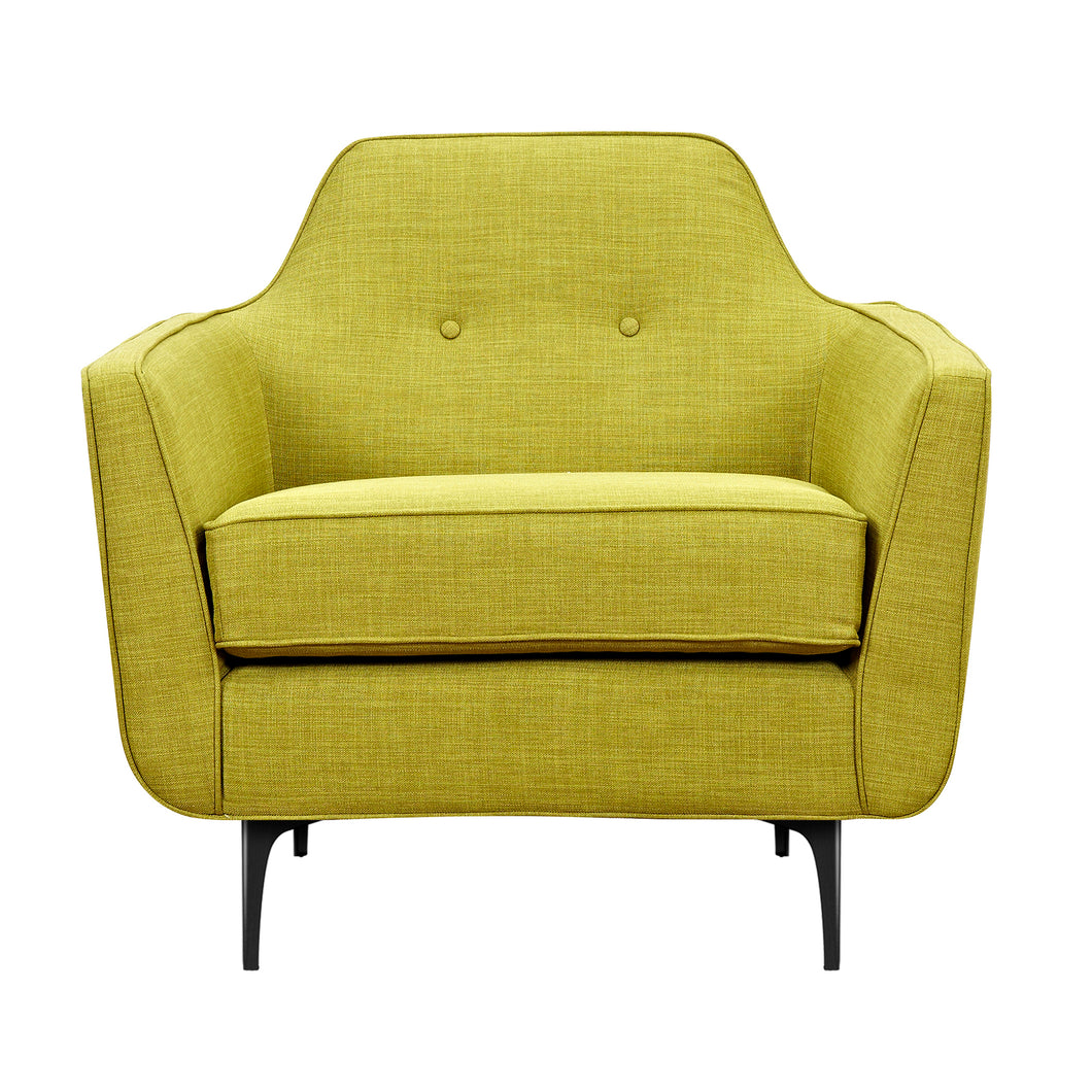 Avocado Green Marta Armchair- Black