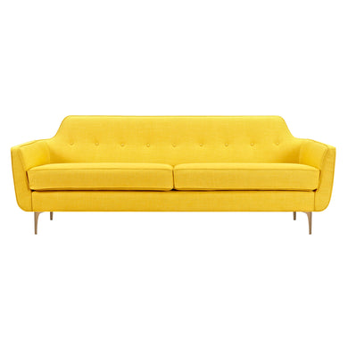 Papaya Yellow Marta Sofa - Blanc + Gris