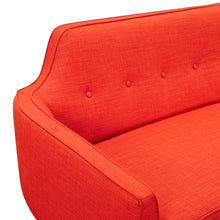 Retro Orange Marta Sofa- Black