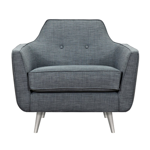 Charcoal Gray Helle Armchair - Blanc + Gris