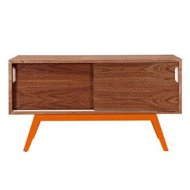 Orange Elsa Credenza-Walnut