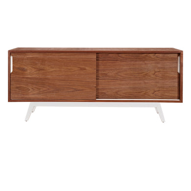 White Elsa Sideboard- Walnut