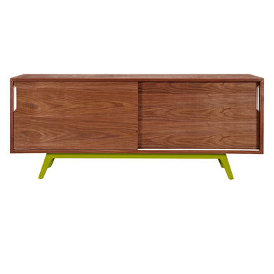 Green Elsa Sideboard- Walnut