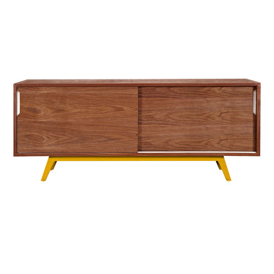 Yellow Elsa Sideboard- Walnut
