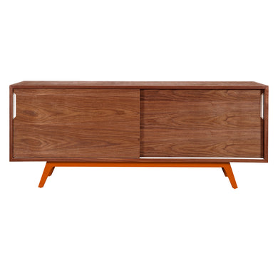 Orange Elsa Sideboard-Walnut