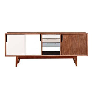 Kelda Sideboard Gray - Walnut