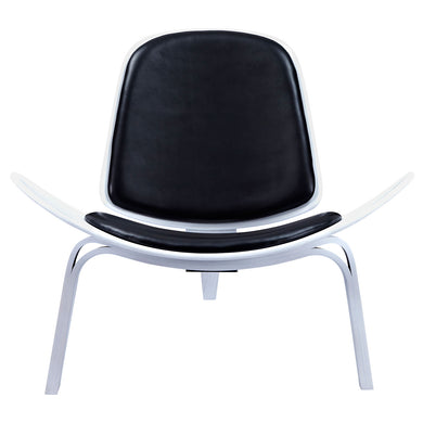 Milano Black Shell Chair - White