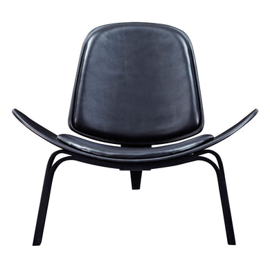 Milano Black Shell Chair - Black
