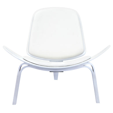 Milano White Shell Chair - White