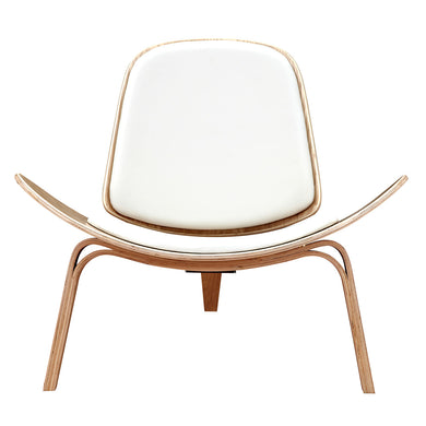 Milano WhiteShell Chair - Natural