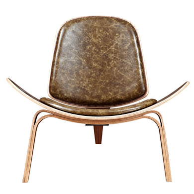 Palermo Olive Shell Chair - Walnut