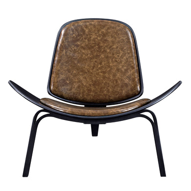 Plaermo Olive Shell Chair - Black