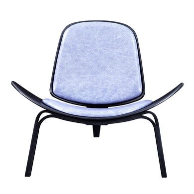 Weathered Blue Shell Chair - Black