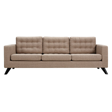 Light Sand Mina Sofa - Black