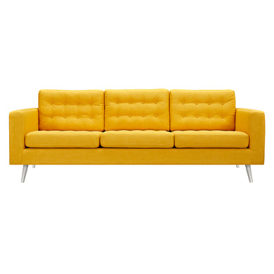 Papaya Yellow Freja Sofa - Blanc + Gris