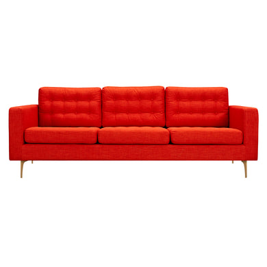 Retro Orange Hilde Sofa - Blanc + Gris