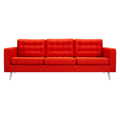 Retro Orange Freja Sofa - Blanc + Gris