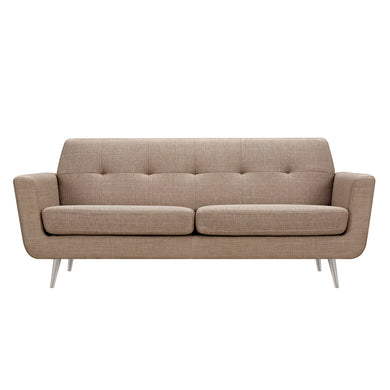 Light Sand Gala Sofa- Silver