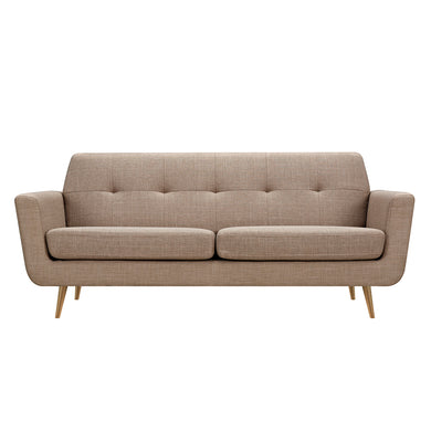 Light Sand Gala Sofa- Brass