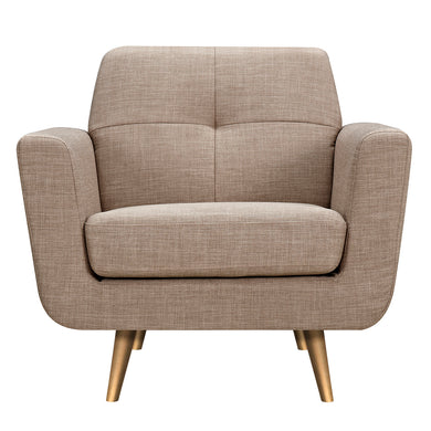 Light Sand Gala Armchair- Brass