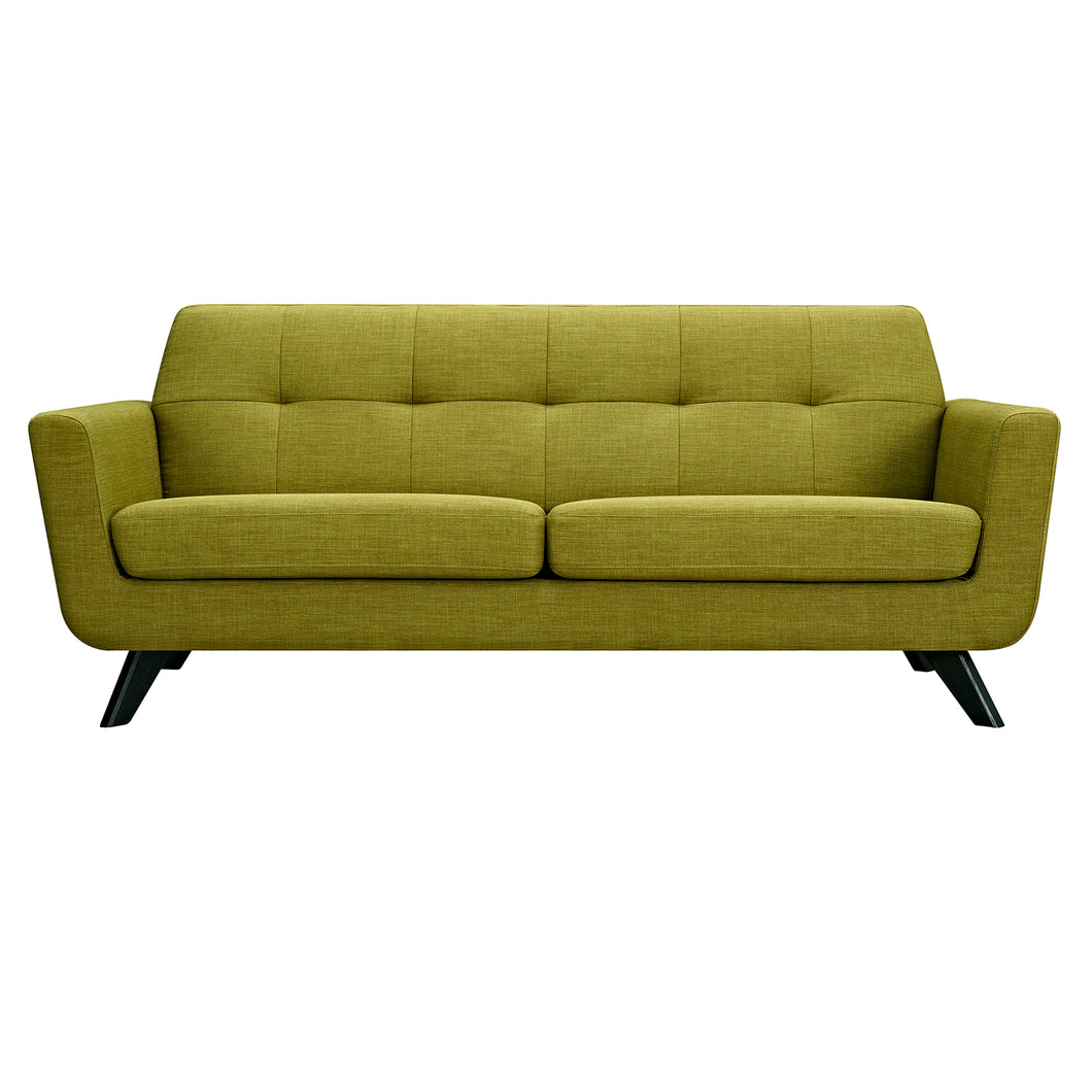 Avocado Green Dania Sofa - Black