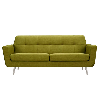 Avocado Green Gala Sofa- Silver