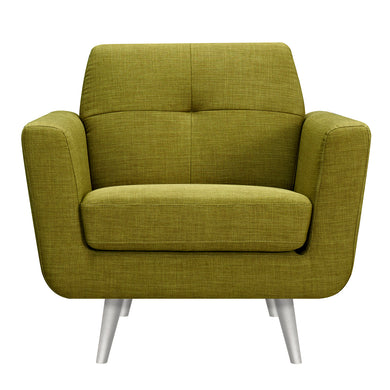 Avocado Green Gala Armchair- Silver