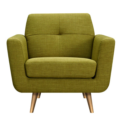 Avocado Green Gala Armchair- Brass