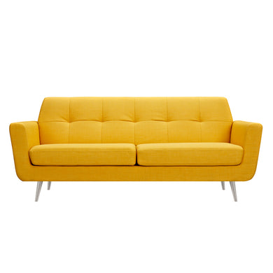 Papaya Yellow Gala Sofa- Silver