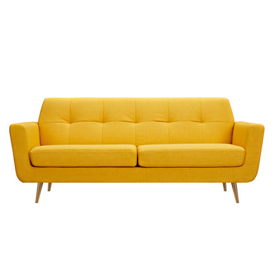 Papaya Yellow Gala Sofa- Brass