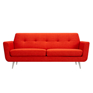 Retro Orange Gala Sofa- Silver