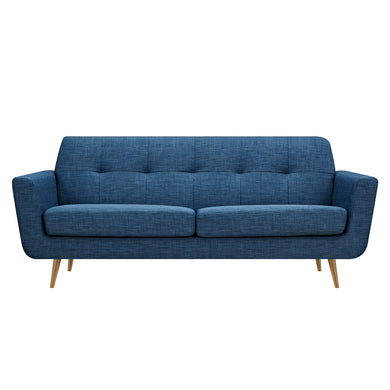 Stone Blue Gala Sofa- Brass