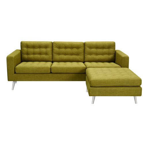 Avocado Green Freja Sofa Set- Silver