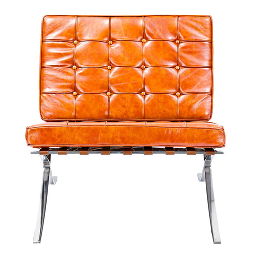 Burnt Orange Mies Chair