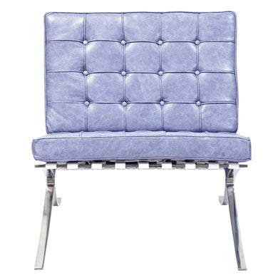 Weathered Blue Mies Chair