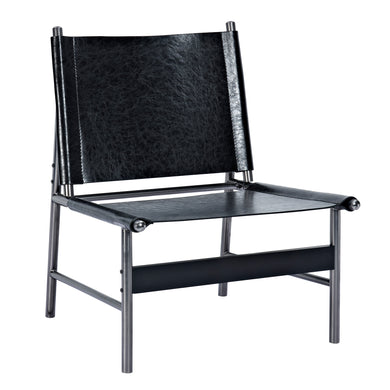 Milano Black Slad Chair - Black