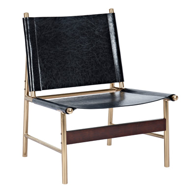 Milano Black Slad Chair - Brass
