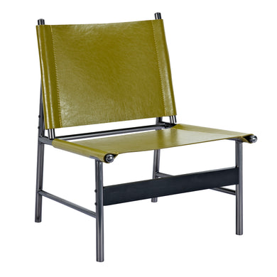 Olive Green Slad Chair - Black