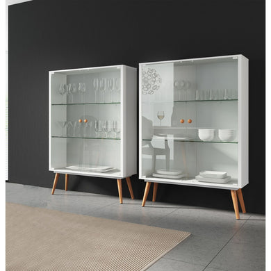 Lina Cabinets - Blanc + Gris