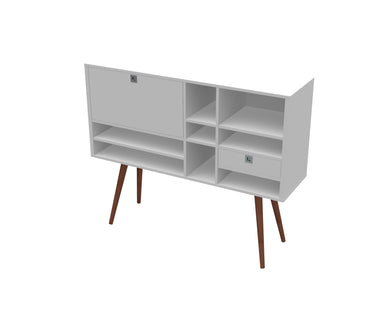 Ideaz International  Cubby Console - Blanc + Gris