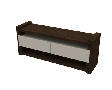 Noblesse TV Cabinet - Wenge/Off White - Blanc + Gris