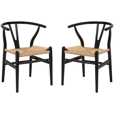 Weave Chair in Black (Set of 2)
