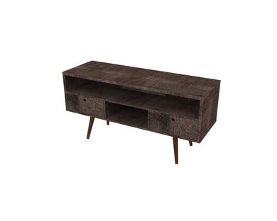 Jessie TV Stand - Terrarum Walnut - Blanc + Gris